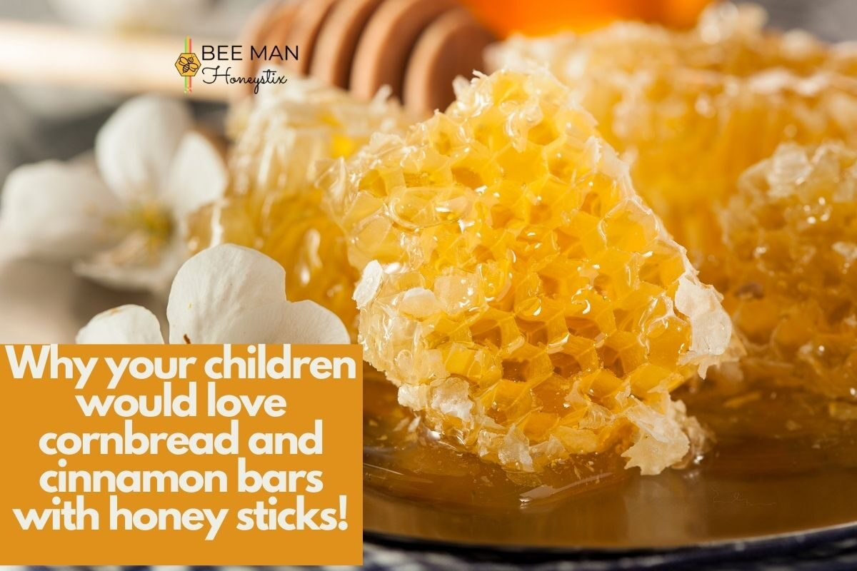 Why your children would love cornbread and cinnamon bars with honey sticks!